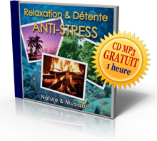 Un CD MP3 de Relaxation-D�tente antistress d'une heure
